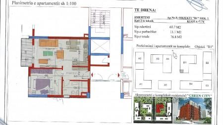 Apartament 1+1 - Shitje Rruga Teodor Keko