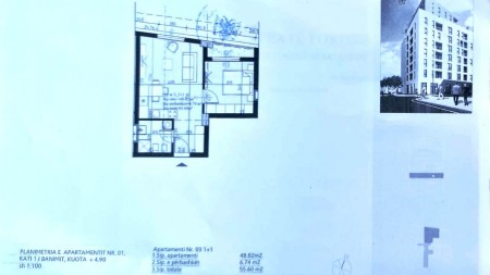 Apartment 1+1 - For sale Rruga Stavri Themeli