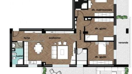 Apartament 3+1 - Shitje Selitë, Tirana